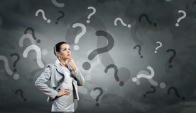 W ten sposób wiele pytania pytać! zdjęcie royalty free