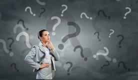 W ten sposób wiele pytania pytać! Fotografia Stock