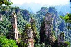 W Tianzi Górze Yubi szczyt zdjęcie stock
