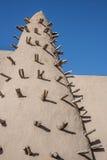 W Timbuktu borowinowy ceglany meczet, Mali, Afryka. Obraz Stock