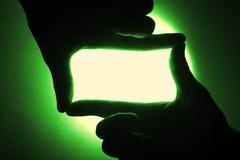 w tle zielony ślepej próby Obraz Royalty Free