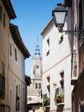 W Toledo Mieście stara ulica Fotografia Royalty Free