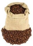 W torbie sosowana kawa Fotografia Stock