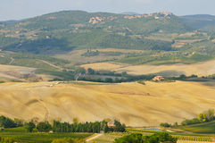 W Toscana wiejski krajobraz Fotografia Royalty Free
