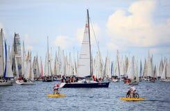 W Trieste Barcolana regatta Zdjęcia Stock