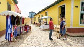 W Trinidad rynek. Kuba. zdjęcia stock