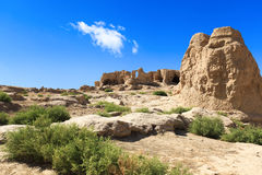 W Turpan jiaohe ruiny Zdjęcia Stock