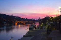 W Turyn Po rzeka Fotografia Stock