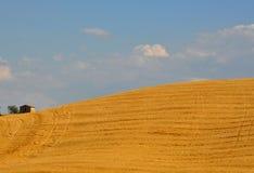 W Tuscany idylliczni wzgórza, Włochy zdjęcia stock