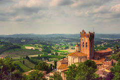W Tuscany San ladscape Miniato Fotografia Stock