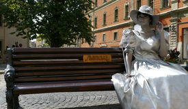 W Ukraina miasto Lviv fotografia royalty free