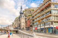 W ulicach Dinant w Belgia fotografia royalty free