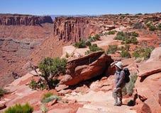 W USA jaru Krajobraz Zdjęcie Stock