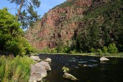 W Utah zielona rzeka Obrazy Royalty Free