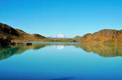 W-viaggio del parco nazionale di Torres del Paine Fotografie Stock