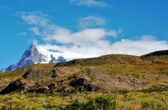 W-viaggio del parco nazionale di Torres del Paine Immagini Stock