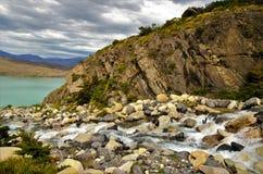 W-viaggio del parco nazionale di Torres del Paine Immagine Stock Libera da Diritti