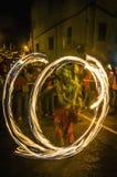 W Vilafranca Correfoc występ Del Penedes Fotografia Royalty Free