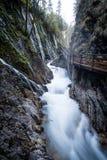 Wąwóz przy Wimbach w Bavarias Berchtesgaden Nationalpark Fotografia Royalty Free