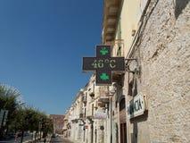 W Włochy gorący lato Obrazy Stock