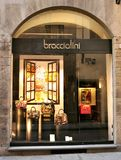 W Włochy moda sławny sklep Obrazy Stock
