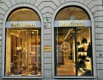 W Włochy moda luksusowy sklep Obrazy Royalty Free