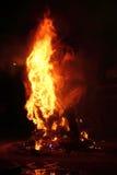 W Walencja Fallas postacie fest pożarnicze płonące Hiszpania Obraz Royalty Free