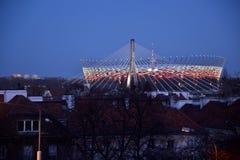 W Warszawa krajowy stadion futbolowy Zdjęcie Stock