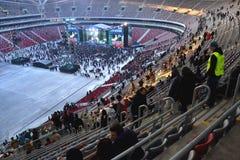 W Warszawa krajowy stadion futbolowy Fotografia Royalty Free