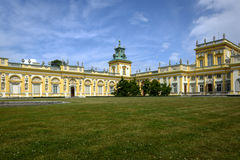 W Warszawa Wilanow królewski Pałac, Polska Zdjęcia Stock