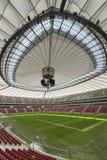 W Warszawskim Krajowym Stadium zamknięty dach, Polska Zdjęcia Stock