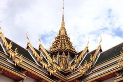 W Wat dachowa Tajlandzka architektura Phra Kaew Zdjęcie Stock