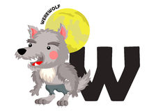 W for Werewolf Royalty Free Stock Photo