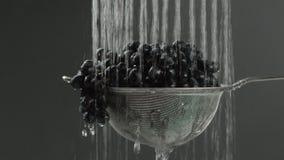 W wideo widziimy winogrona w arfie, woda spadek od wierzchołka w pojedynczych strumień przerwach i początki, wtedy znowu, kamera  zbiory wideo