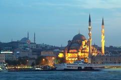 W wieczór nowy Meczet, Istanbuł, Turcja Zdjęcie Royalty Free
