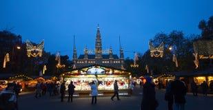 W Wiedeń Boże Narodzenie rynek, Austria Zdjęcie Stock