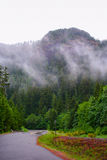 w wietrznym drogowy góry Zdjęcie Royalty Free