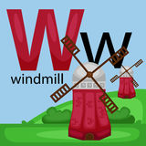 W for windmill Royalty Free Stock Image