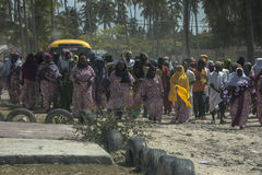 w wiosce Muslim´s ślub, Zanzibar Obraz Royalty Free