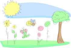 W wiosna świezi ogrodowi kwiaty Zdjęcia Stock