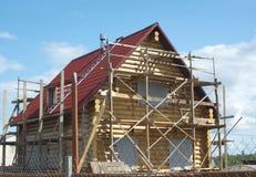 W wsi drewniana domowa budowa Zdjęcie Royalty Free