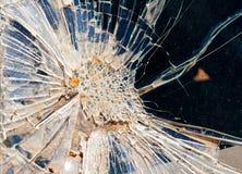 W wypadek samochodowy łamana przednia szyba obrazy stock