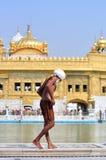 W Złotej Świątyni sikhijski Płuczkowy Ciało, Amritsar obraz royalty free