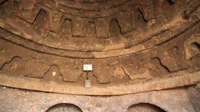 W zawiły sposób tradycyjny Islamski kółkowy projekt na grota suficie Buddhas Bamyan zdjęcie wideo