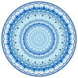 W zawiły sposób Wodny mandala Round ornament Zdjęcie Royalty Free