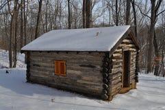 W zima beli kabina Obrazy Royalty Free
