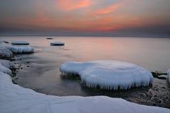 W zima Japonia morze 10 Zdjęcia Stock