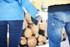 W zima kochająca para Zdjęcie Royalty Free
