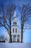 w zima kraju kościół zdjęcie stock