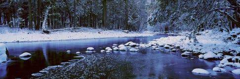 W Zima Merced Rzeka Zdjęcia Royalty Free